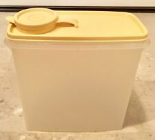 TUPPERWARE Store N Pour Clear Cereal Keeper Container w/ Beige Lid #69 & #471