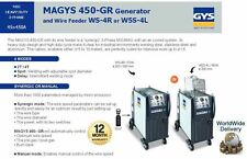 GYS MAGYS 450 45A - 450A 3 PHASE GENERATOR + WIRE FEEDER MIG MAG WITH AIR COOLED