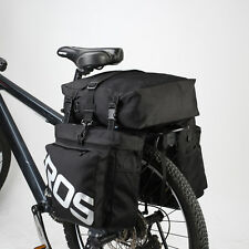 Roswheel Bicycle Rear Seat 3-in-1 Waterproof Bike Cycle Travel Pannier Bag Black