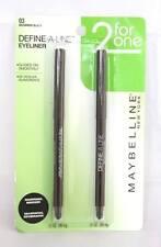 MAYBELLINE definir una línea de ojos Delineador de ojos Lápiz Color Marrón Negro (03) Duo Pack