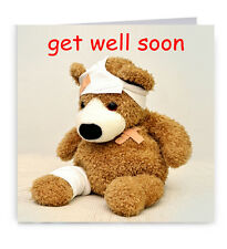 Get well soon teddy bear carte