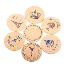 Fashion Hot Cork Wood Tea Coffee Cup Coasters Flexible Heat Resistant Round Mat