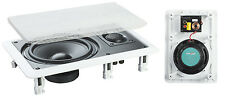 "e-audio Event Shop White 6.5"" 2-Way In Wall Speakers Pair (8 Ohms 120 W) #B411A"