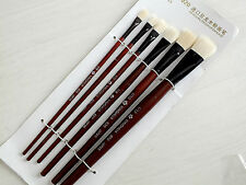 6 SIZE WATER COLOR ACRYLIC OIL PAINTING NYLON BRUSH CRAFT ORIENTAL WESTERN 1-11
