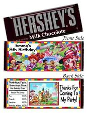 12 Candyland Birthday Party Or Baby Shower Candy Hershey Bar Wrappers Favors