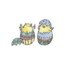 PENNY BLACK RUBBER STAMPS HELLO WORLD EASTER CHICKENS