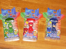 "PJ MASKS Light Up Figure- Catboy Gekko Owlette 4"" figures with Amulet Bracelet"