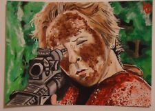 WALKING DEAD SKETCH CARD 'TERMINUS CAROL'  HAND-PAINTED ART 1/1 ROBERT DECKER