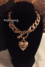 Juicy couture Rose Gold BANNER HEART STARTER NECKLACE