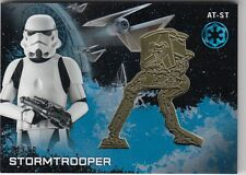 STAR WARS ROGUE ONE SERIES 1 - STORMTROOPER GOLD AT-ST MEDALLION CARD (01/50)