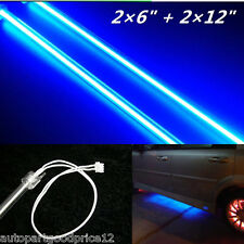 "2×6"" + 2×12"" Car Blue Undercar Underbody Neon Kit Lights CCFL Cold Cathode Tube"