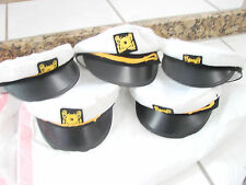 ADULT YACHT BOAT SHIP SAILOR CAPTAIN COSTUME HAT CAP MARINE HAT lot of 5