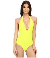 Body Glove Smoothies Mona One-Piece Halter (Lime) Swimsuit Size M 1939 NEW!