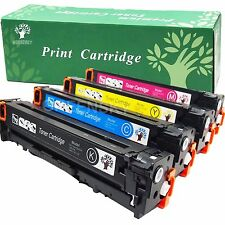 Set of 4 PK CE320A 128A Laser Toner For HP Color LaserJet Pro CM1415FNW CP1525NW