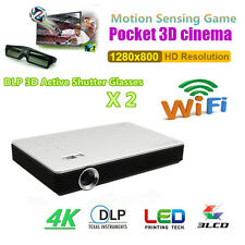 7000Lumens Android HD 1080P 4K Wifi 3D DLP TV Home Theater Projector Ciname HDMI
