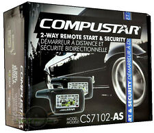 New Compustar CS7102-AS 2 Way LCD Screen Remote Starter With Alarm System CS7102