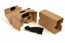 VR Virtual Reality Google Cardboard 3D Glasses & Headband Pre-Assembled US SHIP