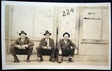 **1900's RPPC ~ FLAPPERS ? REPORTERS WITH CAMERA ? Real Photo PC