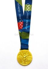 Athens 2004 Olympic Winners Gold Medal With Ribbon Souvenir