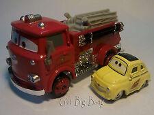 2PCS Mattel Disney Pixar Cars Red Firetruck & Luigi Toys 1:55 New in Stock Loose