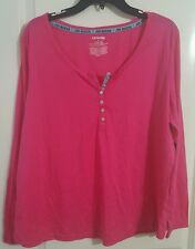 Womens Sleep Shirt PJ Pajama Top Lounge Joe Boxer Pink Plus 1X NWT NEW