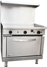 """New Commercial 36"""" Griddle Range Oven. Made in USA by ideal. ETL approved"""