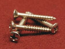 Fender Phillips Head Telecaster Bridge Mounting Screws - Nickel Plated - (4) Pak