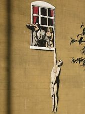"Lovers by Banksy, Graffiti Art, 12""x16"", High Quality Canvas Print"