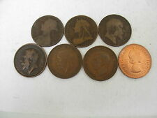 Great Britain 7 varieties pennies 1892 1901 1907 1912 1936 1946 1967 # 3