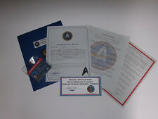 Starfleet Academy Acceptance Package with Starfleet Badge and ID Card