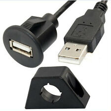 In-Car USB 2.0 Flush Mount Socket Extension Lead Cable / Lead Adaptor / Input