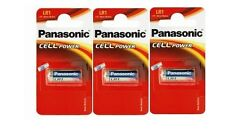 Panasonic lot de 3 batteria LR1 MN9100 N 1.5V alcalino (in blister da 1 pile)