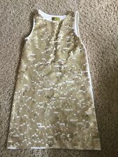 NICOLE MILLER Girls Size Medium Gold Sequin Fitted Party Dress Sleeveless (#12)