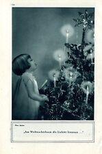 Am Weihnachtsbaum die Lichter brennen... ( Binder )  c.1930