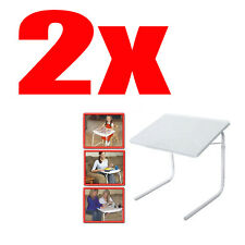 2 SMART TABLE MATE FOLDABLE FOLDING TABLEMATE AS SEEN ON TV ADJUSTABLE TRAY