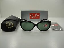 RAY-BAN JACKIE OHH POLARIZED SUNGLASSES RB4101 601/58 BLACK/GREEN LENS 58MM