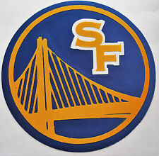 """HUGE GOLDEN STATE WARRIORS IRON-ON PATCH - 7.25"""""""