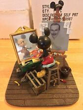 Walt Disney Mickey Mouse Artist Self Portrait Figurine A-00 by Charles Boyer NIB