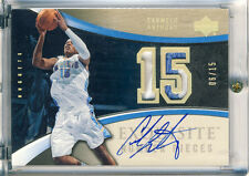 05 UD Exquisite Carmelo Anthony Auto Patch /15 RARE