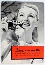 Original Leica Ic, IIc, & IIIc Sales Brochure - Leitz NY - 6 pages -  Oct. 1949