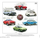 CLASSIC FIAT - Fine Art Print - Dino Spider 124 Sport 130 850 Coupe X1/9 and 500