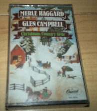 MERLE HAGGARD, GLEN CAMPBELL Christmas Country Style Cassette, SEALED