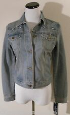 NWT Chaps Denim Womens Button-Front Jean/Denim Jacket S Ashville Wash MSRP$99