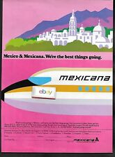 MEXICANA AIRLINES WE'RE THE BEST THING GOING 1979 727 GOLDEN AZTEC SERVICE AD