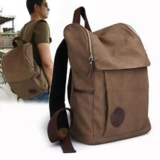 Men's Vintage Canvas backpack Rucksack Shoulder travel Camping Bag Satchel
