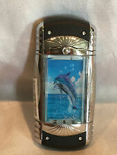 METAL/PLASTIC DOLPHIN BUTANE CIGARETTE LIGHTER WORKS W/ MOTION SCREENS