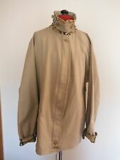 BURBERRY LADIES HARRINGTON JACKET UK 18 REGULAR BEIGE CREAM NOVA CHECK LINED