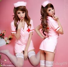 Sexy Lingerie doctor nurse costume funny dress up halloween outfit +Hat+stocking