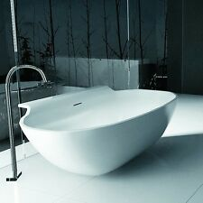 Free Standing Solid Surface Stone Modern Soaking Bathtub 71 x 35 inch - SW-111