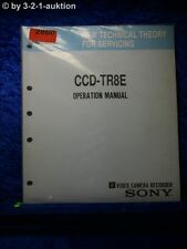 Sony Operation Manual CCD TR8E (#2860)